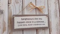 Design Your Own Personalised Plaque 23cm